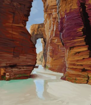 Landscape study 4 by Exploom