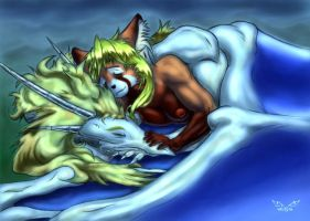 sleeping together. by White-Dragon-NL