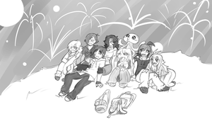 Fireworks with friends... by Ruxikah