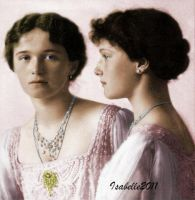 Olga and Tatiana Nikolaevna by GrandDuchessIsabelle