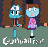 Gumball Falls by DoctorWii