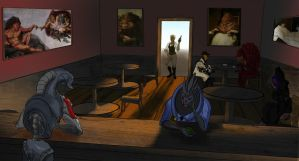 Mass Effect: Saloon by visiblespectre