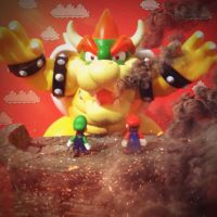 Attack on Giga Bowser by Dollwoman
