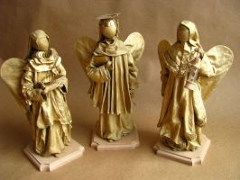 Angels - textile sculpture OOAK by chu-po-po