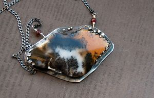 Pendant Safari, sterling silver, agate by honeypunk