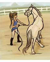 Lunging Training - Goulding by strideroo