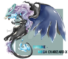 Suicune - Mega Charizard X by Seoxys6
