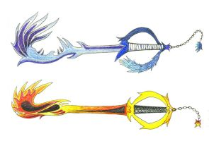 Keyblades ::coloured:: by Zexia