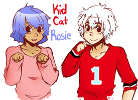 Kid Cat and Rosie by KiwiDoodle