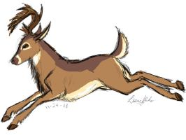 Mule Deer speed-sketch by Pegasicorn