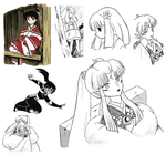 Various Inuyasha Sketches by Stosyl