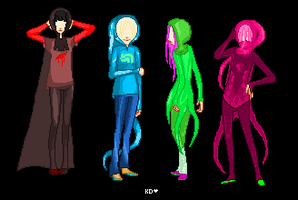 RGB|Homestuck|First four by KohakuDragon