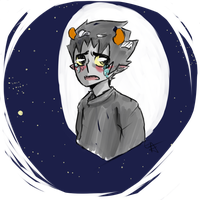 Karkat Vantas: 5th tablet drawing by EmiAnimeOriginal
