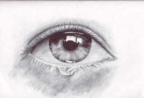 Eye Pen Drawing by Krystian3Polish