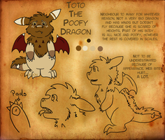 Toto the Poofy Dragon by Otackoon