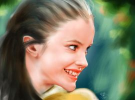 iPad finger painting - Barbara Palvin as an elf :) by chaseroflight
