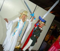Goddes Hylia and Link from SS Manga by MistressAinley