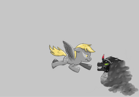 Derpy-against-sombra-end by Nazzaroth