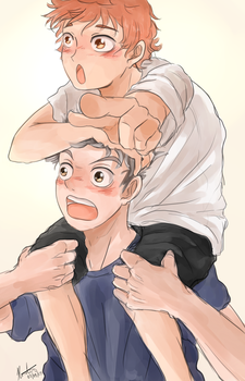 HQ!! - Bokuto and Hinata by kavi-ar