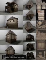 Medieval house 02 by delira