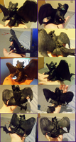 Rearing Toothless Clay Sculpt by GoldenGriffiness
