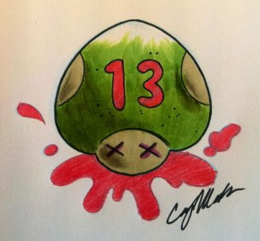 Friday the 13th Nega Life Tattoo Design by NarcissusTattoos