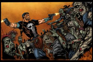 Frank Castle Walking Dead 2 Colors by likwidlead