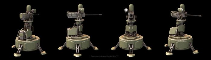 Remnants turret by Avitus12