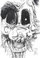 The Mangle .:traditional Ink:. by ZLMike