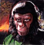 Caesar - Roddy McDowall - Planet of The Apes by smjblessing