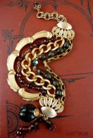 Reconstructed chain bracelet by janedean
