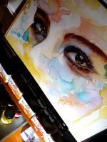Eyes on my wall by jane-beata