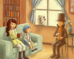 Layton and Friends by kila-ibyao