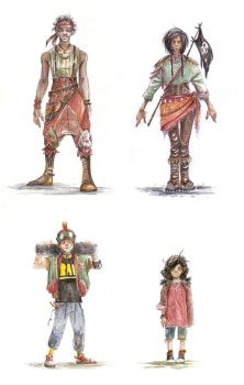 Characters by Harkill