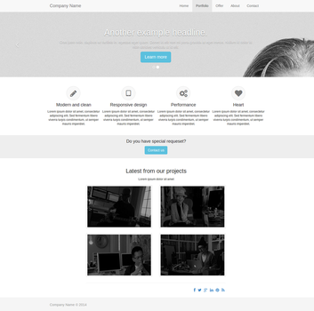 Example theme for my CMS by sbk-web