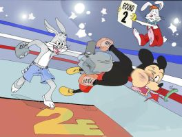 Mickey Mouse Vs. Bugs Bunny by Kapalsky