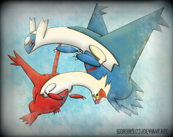 Latias and Latios by IgorBird122