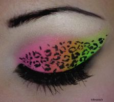 Neon Glitter Leopard II by killerpeach94
