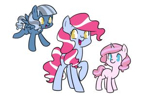 Pinkie Daughters by kilala97