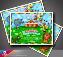 1st Birthday Circus Invitation by AnotherBcreation