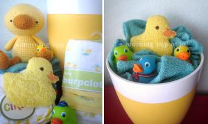 Baby Shower Gift Basket by amorningcupofjo