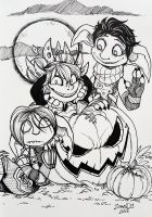 Pumpkin adoration by ZombiDJ