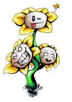 Undertale - The many faces of Flowey by lyoth737