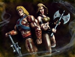 Battle for Eternia by ittoogami