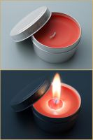 tea candle 'Final image' by cecobesnia