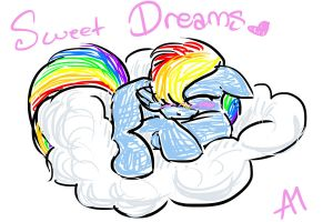 Sweet Dreams, Rainbow Dash! by BananimationOfficial