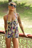 Justine - playsuit and sunnies 3 by wildplaces