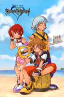 Kingdom Hearts-Destiny Island by edwardgan