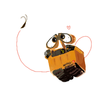 WALL-E and his roach by dearboys