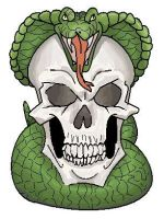Snake and skull by ConkerTSquirrel